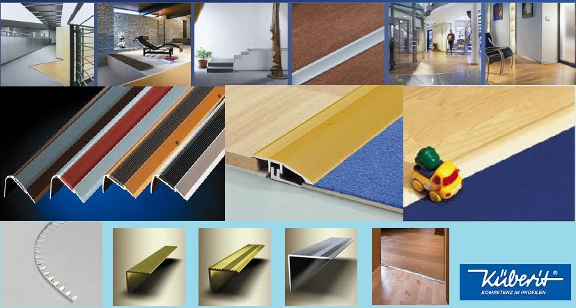 Kuberit (Germany) is a market leading brand of high quality aluminium flooring accessories, combining elegance, innovation and the highest safety standards.