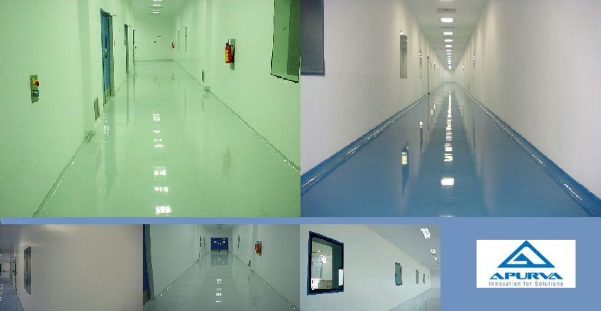 Apurva (India) Limited is one of the market leaders which offer PU Walgard WB elastomeric Hygienic internal walls / ceiling coating solutions.